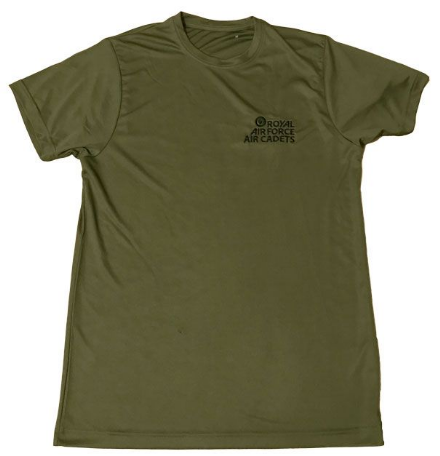 Olive Green Anti-wicking T-shirt 100% Polyester